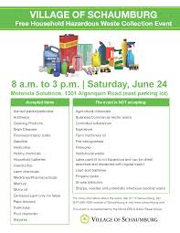 household hazardous waste collection events in june cook county
