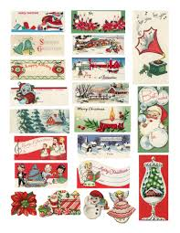 awesome retro vintage christmas tags this is the definitive