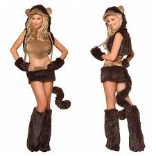 Monkey Halloween Costumes Mascot Arrival Furry Costume Onesie Footed Boots Animal