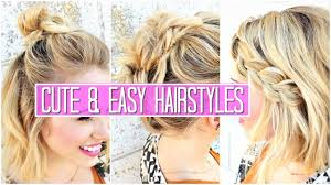 Easy Hairstyles For Medium Straight Hair by 3 Easy Hairstyles For Short Medium Hair Tutorial Cute Girls