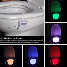 motion activated color changing led toilet bowl light yugster