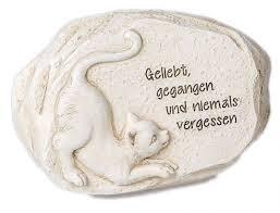 trauersprüche katze tiergrabstein gedenkstein für verstorbene katze mit trauerspruch