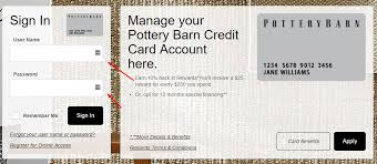 Comenity Pottery Barn Kids Pottery Barn Credit Card Login Bill Payment