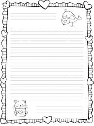 writing paper template printable writing paper 6 free documents