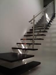 Stairs With Open Risers by Center Beam Stair With Glass Railings Bella Stairs Llc Archinect