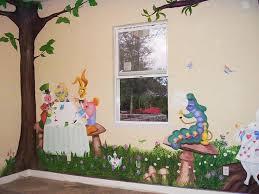 Best Alice In Wonderland Room Images On Pinterest Nursery - Childrens bedroom wall painting ideas