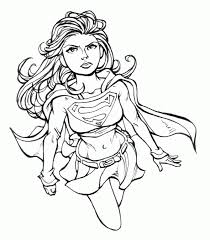 supergirl coloring coloring