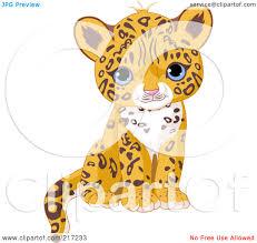 jaguar clipart royalty free rf clipart illustration of a cute jaguar cub
