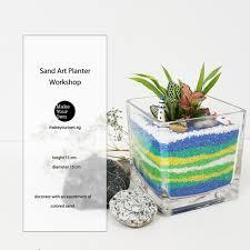 corporate sand art planter workshop open terrarium corporate