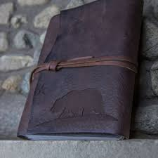 leather scrap book california leather journal leather from trekkerleatherco