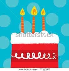 red velvet birthday cake perfect birthday stock vector 371873353