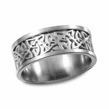 celtic knot wedding bands men s 9 0mm celtic knot wedding band in stainless steel wedding