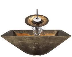 638 foil undertone glass vessel sink