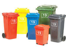 2 x adhesive wheelie bin numbers number stickers select from 10