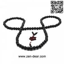 natural beads necklace images Zen dear unisex natural ebony wood buddhist prayer bead necklace jpg