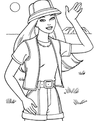 barbie coloring pages 12 print color free