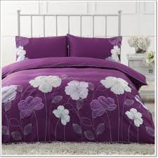 bedroom lovely purple bedroom with purple floral pattern bed and