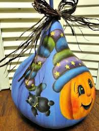 hand painted pumpkin halloween clipart gourd witch witch gourd hand painted by fromgramshouse on etsy