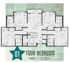 four bedroom floor plans four bedroom republic at sam houston