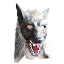 halloween werewolf props vogue halloween unicorn horse zebra wolf head cosplay party prop