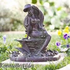 disney ariel with seashell garden statue figurine garden statues