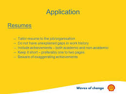 Tailor Resume To Job by Shell Interview Skills Presentation Ppt Video Online Download