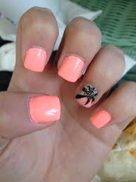 sunset palm tree nail design nails a picasso on my fingers