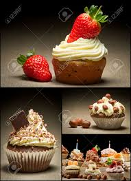 collage of different types of muffins no 1 stock photo picture