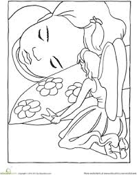 tooth fairy coloring page tooth fairy teeth and worksheets