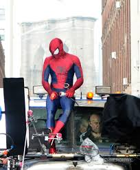 amazing spiderman 2 on set photos the amazing spider man 2 on