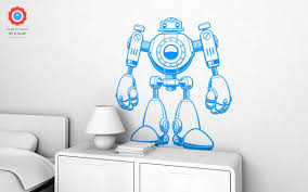 robot xl wall decal nursery kids rooms wall decals boy room