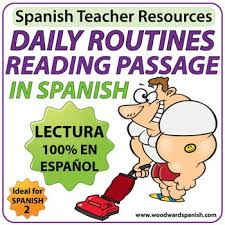 spanish reading daily routines reflexive verbs by woodward