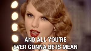 Why You So Mean Meme - mean lyrics taylor swift song in images