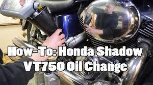 how to honda shadow vt750 oil change youtube