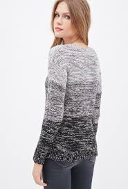 forever 21 contemporary marled knit ombr u0026eacute sweater in gray