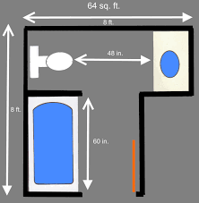 X  Bathroom Floor Plans  Free Sample Bathroom Floor Plans - 6 x 6 bathroom design