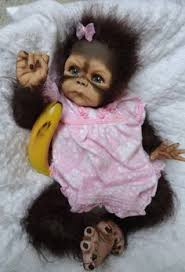 Baby Monkey Meme - ooak reborn monkey orangutan baby girl art doll orangutan baby 1st
