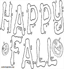 happy fall pumpkin coloringkids org coloring kids