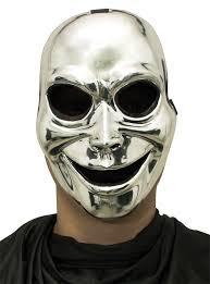 creepy mask sinister ghost metallic silver creepy mask costumes au