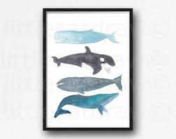 Whale Bathroom Accessories by Bathroom Wall Decor Etsy