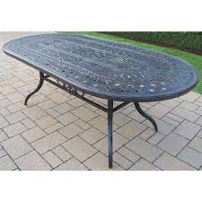 oval aluminum patio table oval patio tables patio furniture the home depot