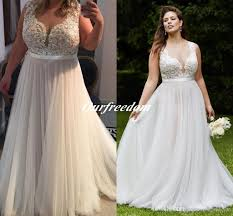 2016 vintage plus size illusion top wedding dresses sheer neck a
