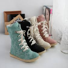 womens boots leather uk 2014 fashion pu nubuck leather lace front leather shoes s