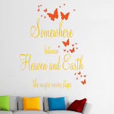 somewhere between heaven and earth wall stickers decals sunflower and orange somewhere between heaven and earth wall sticker in a lounge