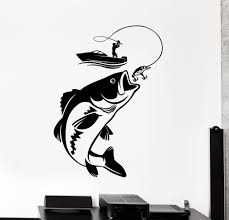 vinyl wall decal fishing fisherman hobby fish boat stickers our vinyl stickers are unique and one of a kind every sticker we sell is