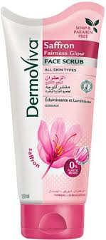 Scrub Viva dermoviva saffron fairness glow whitening scrub 150 ml price