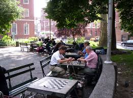 tables in central park the kenilworthian a chess tourist in new york city