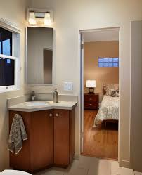 corner sink cabinet ideas bathroom contemporary with sconce metal