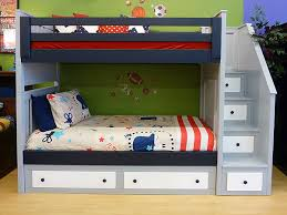 Deluxe Milan Twin Over Twin Bunk Bed WAngled Staircase - Milano bunk bed