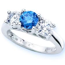 rings with diamonds images Aclutx70th blue diamond rings aclutx70th jpg